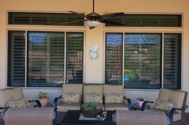 Backyard Two Window View