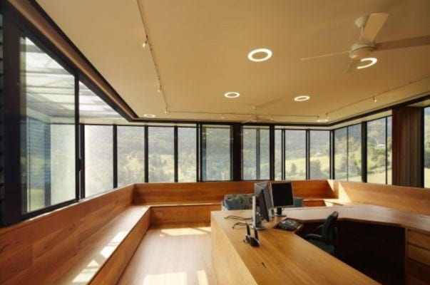 wooden sun room