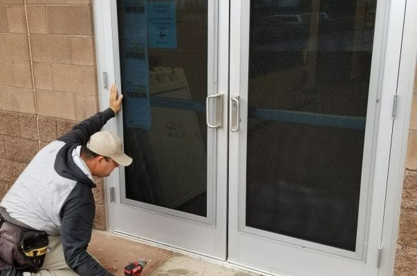 Office Side Entrance Install